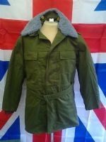 EX ARMY MILITARY CZECH 2 PIECE GREEN JACKET WITH FUR LINER, COLLAR AND HOOD